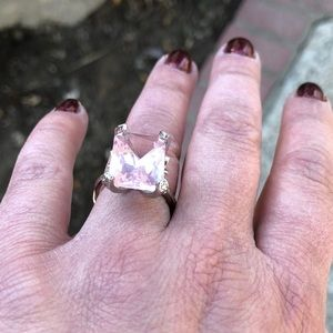 Gorgeous Lab Created  Ametrine & Silver Ring